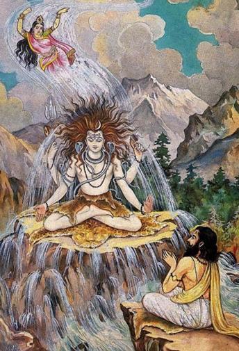 Ganga descend sur terre
