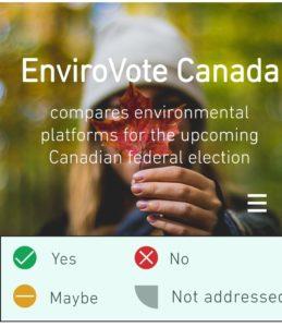 Le site Web d'Envirovote Canada