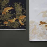 Mouchoirs sérigraphiés et ourlés à la main par Blooming Nakanishi and Company
