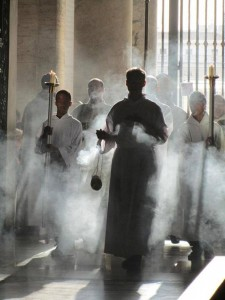 L'utilisation catholique de l'encens