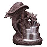 OTOFY porte-encens en céramique fait à la main, brûleur à encre arrière Figurine porte-cônes d'encens Home Decor cadeau décorations Statue ornements (Fly Dragon)